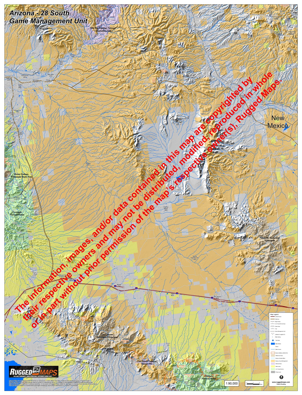 Map Of South Arizona.Arizona Gmu 28 South