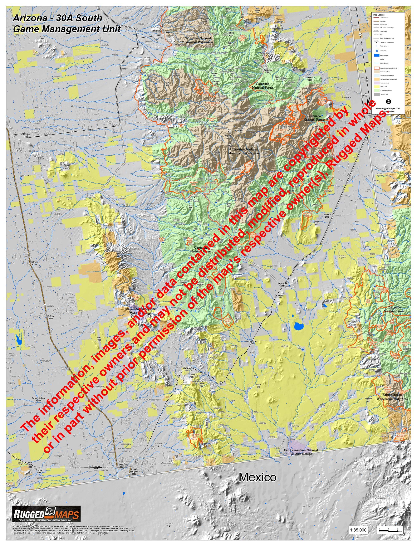 Map Of South Arizona.Arizona Gmu 30a South