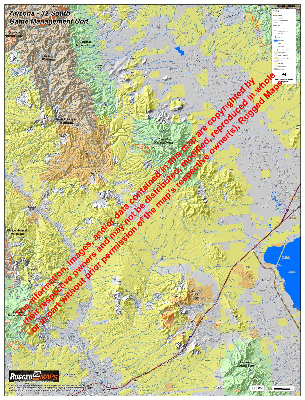 Map Of South Arizona.Arizona Gmu 32 South