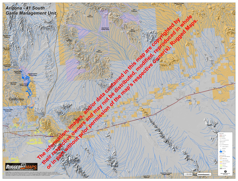 Map Of South Arizona.Arizona Gmu 41 South
