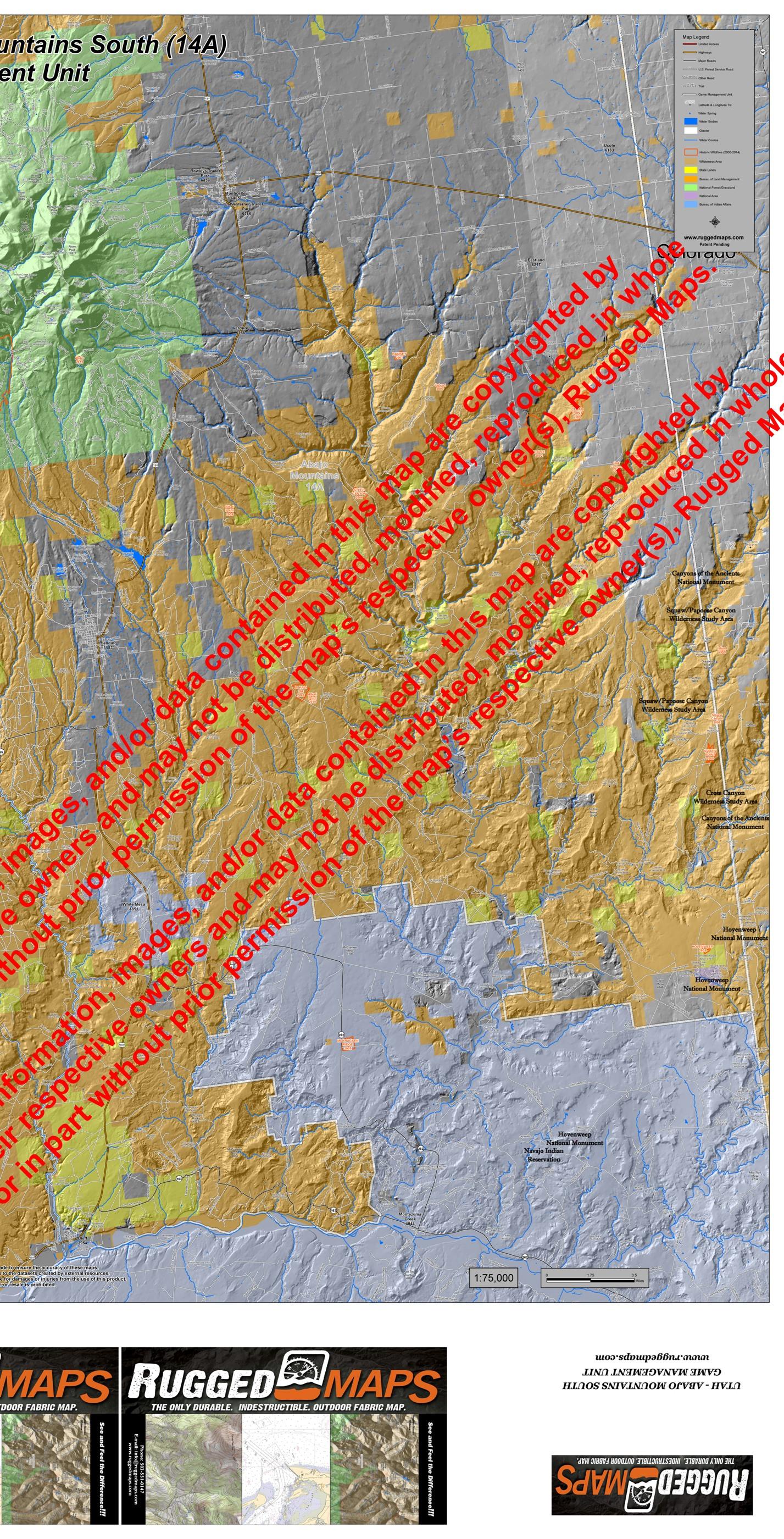 Utah GMU A South - Buy ancient maps