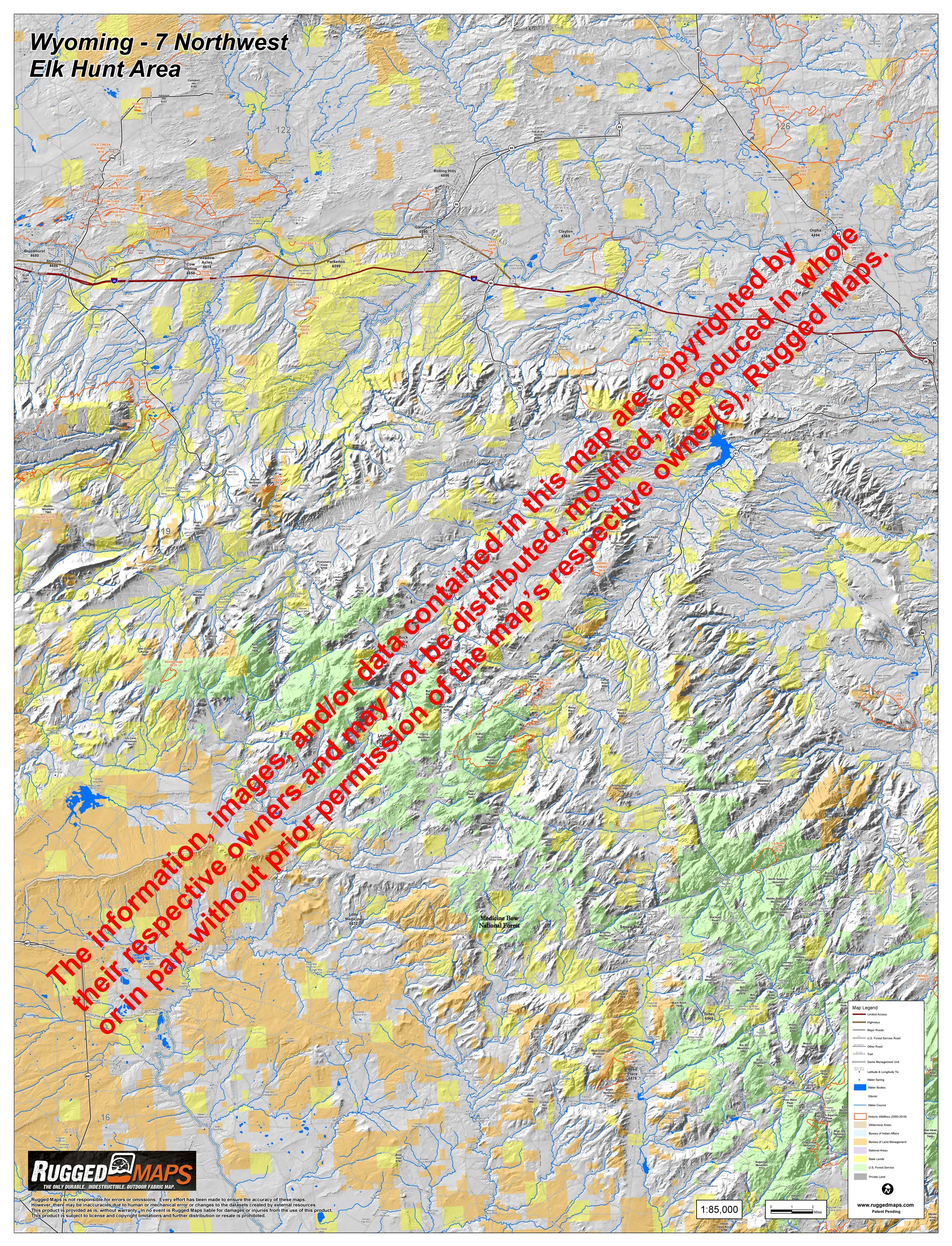 Wyoming | Elk Hunt Area 7 - Laramie Peak Northwest
